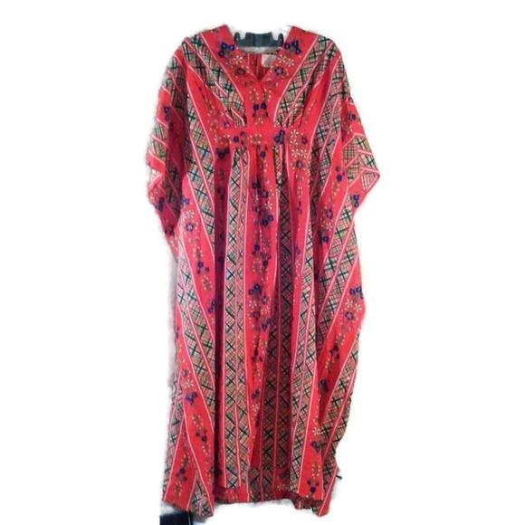 700424f10d3f8c Sears Dresses | Retro Roebuck Maxi Dress Kaftan Muumuu 60s | Poshmark